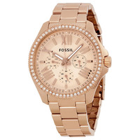 Fossil Cecile Multifunction Rose Dial Rose Gold-tone Stainless Steel Ladies