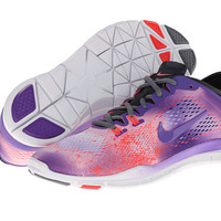 Nike Free 5.0 TR Fit 4 Print White/Laser Crimson/Anthracite/Purple Venom - Zappos.com Free Shipping BOTH Ways