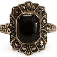 One Kings Lane - Maddie Sadofski - Vintage Sterling & Onyx Ring