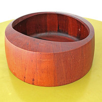 Large Danish Modern Teak O Serving Bowl By Jens Quistgaard /// FREE SHIPPING WORLDWIDE