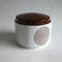 Vintage Rosenthal Germany Studio Line Joy 1 Lidded Sugar Bowl Brown 1970's Porcelain