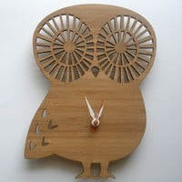 My Owl Barn: Owl Clock by Decoylab