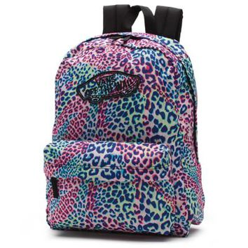 Vans Leopard Realm Backpack (Leopard/Multi/True White)