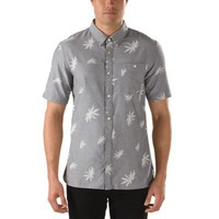 Vans La Palma Palm Print Buttondown Shirt (New Charcoal)