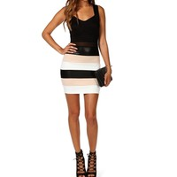 Bodycon Color Block Fitted