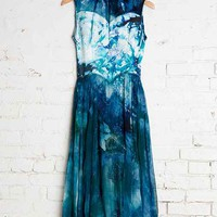 Vintage Teal Party Dress - Urban Outfitters