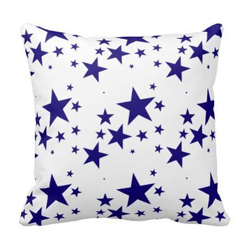 4th of July Blue Star Splash Pattern on White