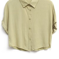 Candy Color Cropped Shirts - OASAP.com