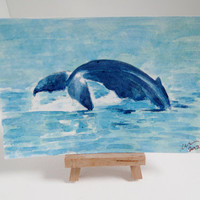 OSWOA Whale Fluke Original Watercolour & Ink by ClareSherwen