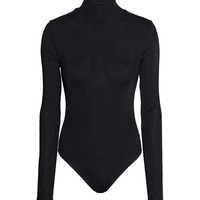 H&M - Turtleneck Bodysuit - Black - Ladies