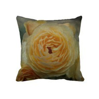 Textured Rose American MoJo Pillows from Zazzle.com