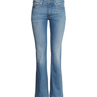 H&M - Flare Low Jeans - Denim blue - Ladies