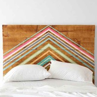 Oh My Wood! Pyramid Headboard - Urban Outfitters