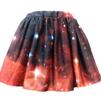 Crimson Galaxy Skirt Short by shadowplaynyc on Etsy