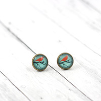 Bird Earring Studs, Dainty Bird Earrings, Summer Earring Posts