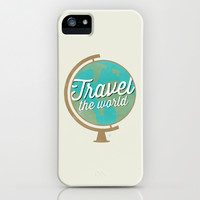 Travel the world - Globe design iPhone & iPod Case by Allyson Johnson