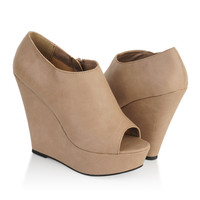 Peep Toe Wedge Booties | FOREVER21 - 2000046697