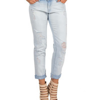Flying Monkey - Boyfriend Soft Denim Jeans