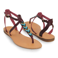 Beaded Thong Sandals | FOREVER21 - 2000043015