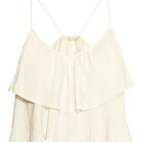 H&M - Short Tiered Top - Natural white - Ladies
