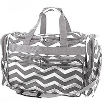 "Durable High Quality Chevron Print 22"" Duffel Travel Cheer Dance Gym Bag"