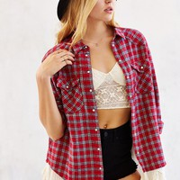 BDG Lace Petticoat Flannel Shirt - Urban Outfitters
