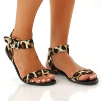 Run To The Wild Sandals: Leopard