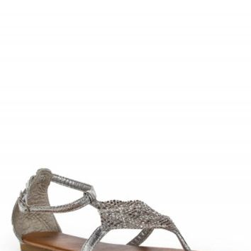 TWISTED DIAMOND GLADIATOR SANDALS