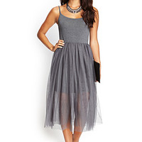 Knit & Tulle Cami Dress