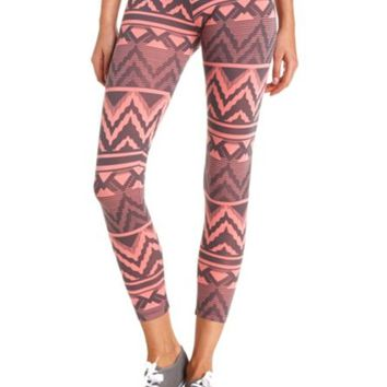 COTTON TRIBAL CHEVRON PRINTED LEGGINGS