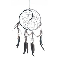 "Dream Catcher ~ Handmade Traditional Yin & Yang 8.5"" Diameter & 20"" Long!"