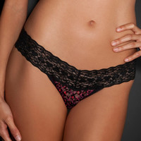 Blackheart Cheetah Lace Thong Panty