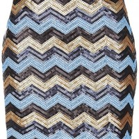 Chevron Sequin Skirt