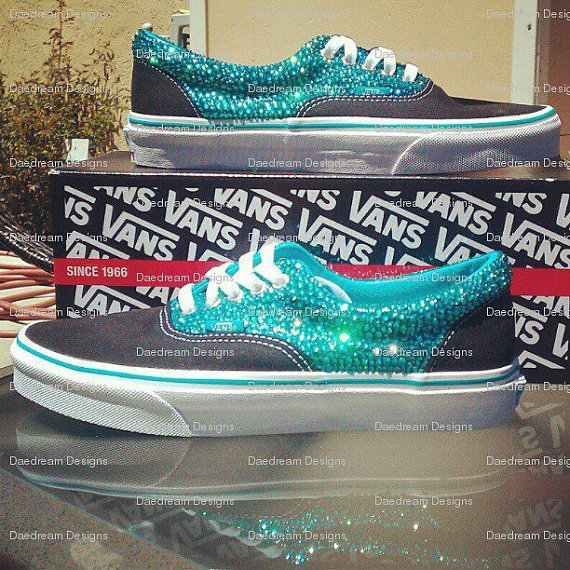 Custom Bling Adult Vans by DaedreamDesigns on Etsy