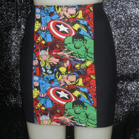 Hot High Waist Pencil skirt  I HEART MARVEL Avengers by GetWaisted