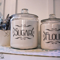 Jar or Canister Vinyl Tags for Home by LeenTheGraphicsQueen