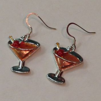 Martini Earrings- Peach