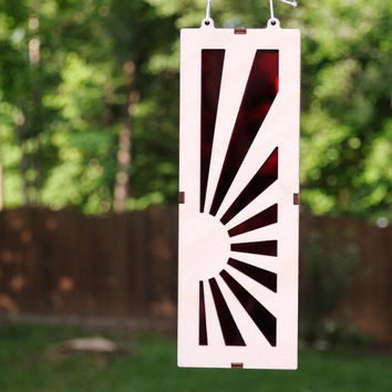 Rising Sun Suncatcher Japanese Theme Light Catcher