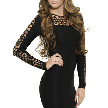 Black Strings and Knot Dress | Verona