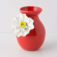 White Poppy Vase by Anthropologie Red M Room Decor