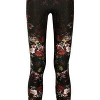 Alexander McQueen|Floral-print stretch-jersey leggings|NET-A-PORTER.COM