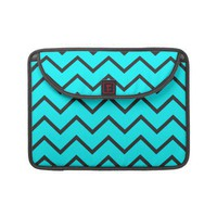 Turquoise Zigzag Sleeves For Macbooks from Zazzle.com