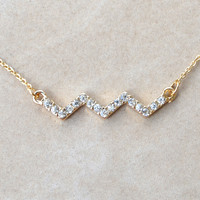 Chevron Necklace - Gold | Shop Civilized