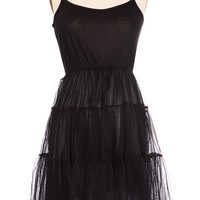 Noir Petticoat Slip Dress