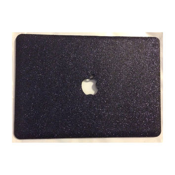 Glitter MacBook Case- Black