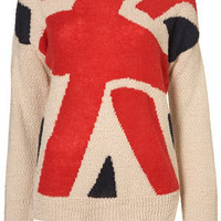 Knitted Union Jack Jumper - Knitwear - Clothing - Topshop
