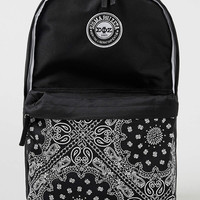 Black Bandanna Frat Backpack - TOPMAN USA