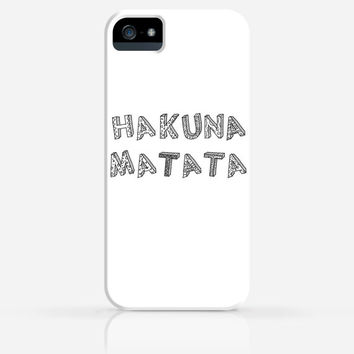 Hakuna Matata Disney iPhone 4 Case, iPhone 4s Case, iPhone 5 Case, iPhone 5s Case, iPhone Hard Plastic Case