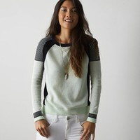 AEO COLORBLOCKED CREWNECK SWEATER