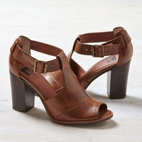 BC Away We Go Peep Toe Bootie, Tan | American Eagle Outfitters